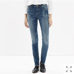 Madewell high riser alley straight jeans in afton